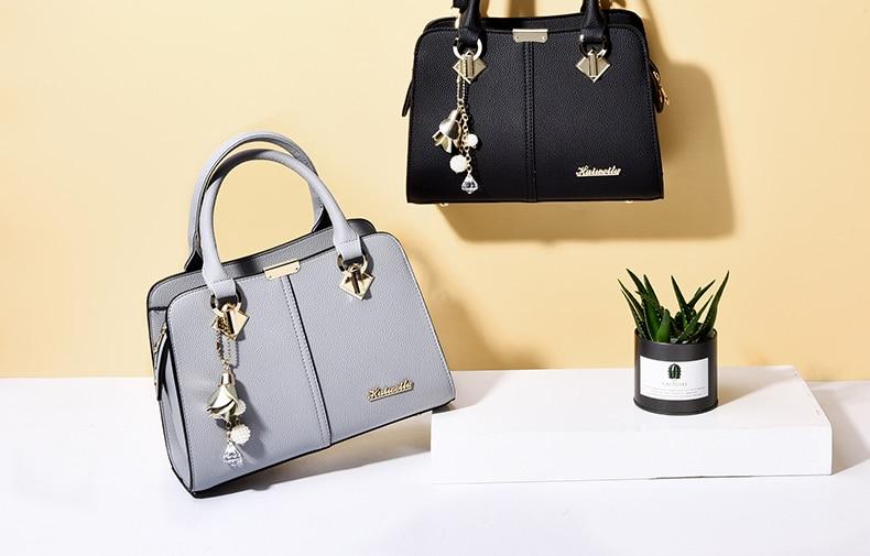 Designer Brand Bags Ladies Leather Tote Bag 2020 Luxury Ladies Handbag Wallet Fashion Shoulder Bag 17