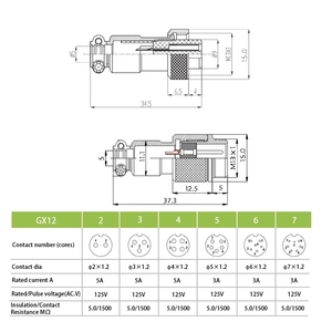 1 комплект GX12 док станция 2 3 4 5 6 7Pin Мужская и женская Круглая Панель 12 мм металлический авиационный соединитель стыковое соединение авиационная розетка Соединители      АлиЭкспресс