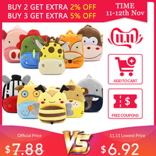 2019 3D Cartoon Plush Children Backpacks kindergarten Schoolbag Animal Kids Backpack Children School