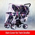 Универсальный дождевик для детской коляски, двойная коляска, дождевик, детская коляска, водонепроницаемая коляска, аксессуары, защита от ве...