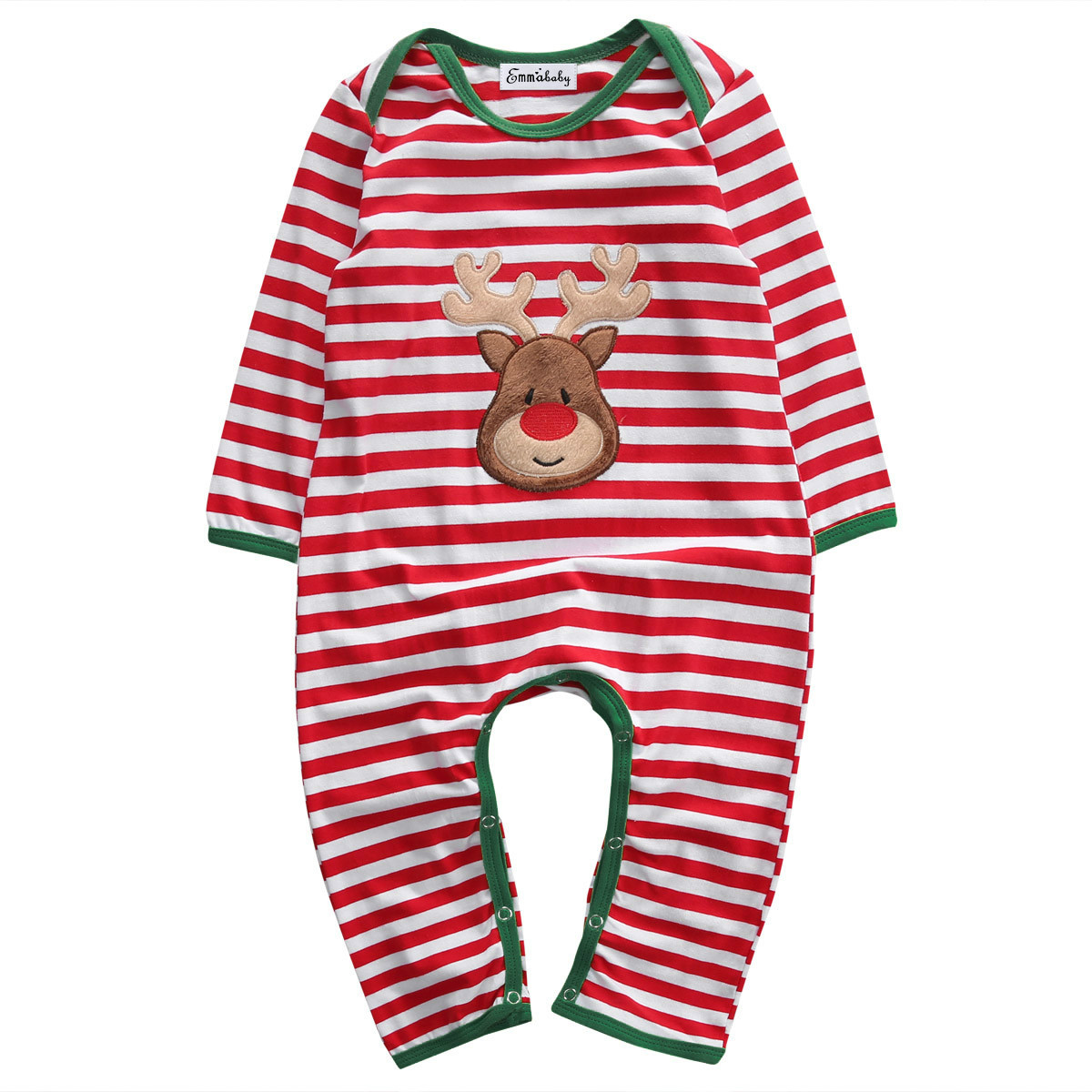 Emmababy Newborn Baby Christmas Pajamas Unisex Infant Boy Girls Clothes Playsuit Romper Pullover Costume Outfit Gift