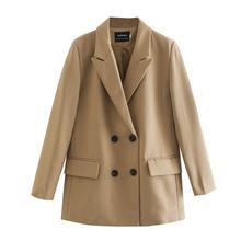 TOPPIES 2020 femmes longue blazer double boutonnage costume veste ample surdimensionné manteau couleur unie formel blazer