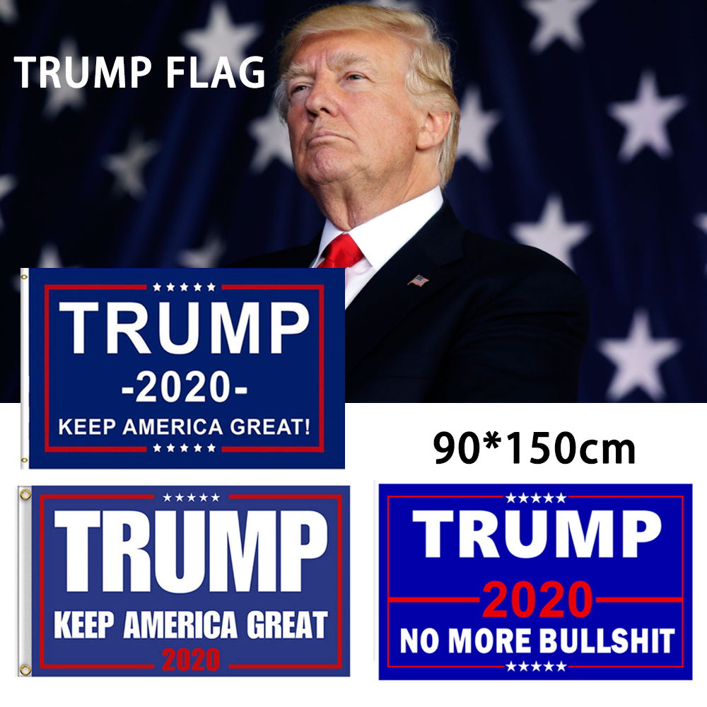 TRUMP NO MORE BULLSHIT MINI BANNERS KEEP AMERICA FIRST MAGA 2020 CAR FLAGS USA