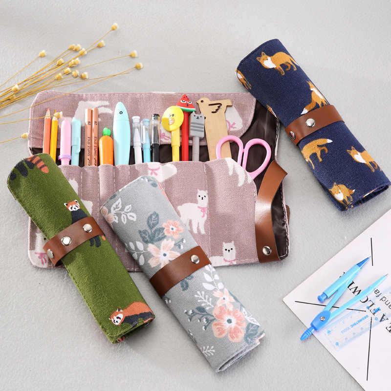 ตัดดินสอม้วนเกาหลี Penal สำหรับโรงเรียน Pencilcase เด็กชายตลับหมึกกระเป๋า Kawaii ปากกากล่องเครื่องเขียนเครื่องสำอางค์ชุด
