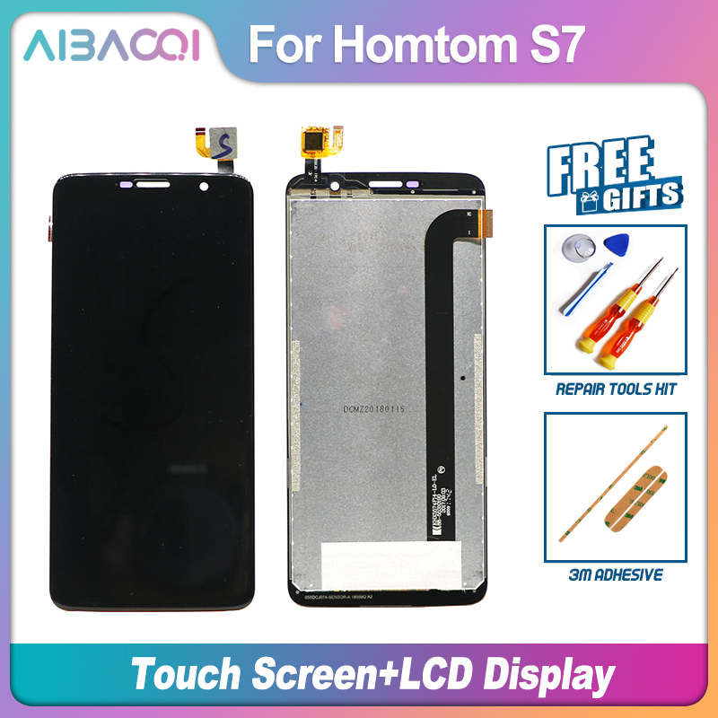 AiBaoQi New Original 5.5 inch Touch Screen + 1280X640 LCD Display Assembly Replacement For Homtom S7 model Phone(China)
