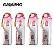 Gaoneng batterie Lipo, 4 pièces GNB 450MAH, 3S 80C HV 11.4V, prise XT30, pour iFlight CineBee, cinéma intérieur hoop, BetaFPV pour Drone RC quadrirotor