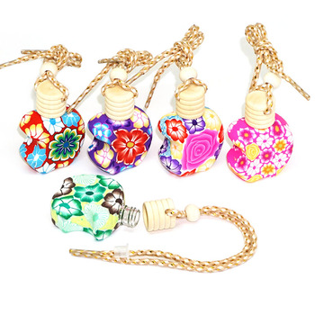 Essential Oil Polymer Clay Perfume Bottle Soft Pottery Empty Bottle Wooden Cover 10ml Colorful Handmade 25pcs/lot