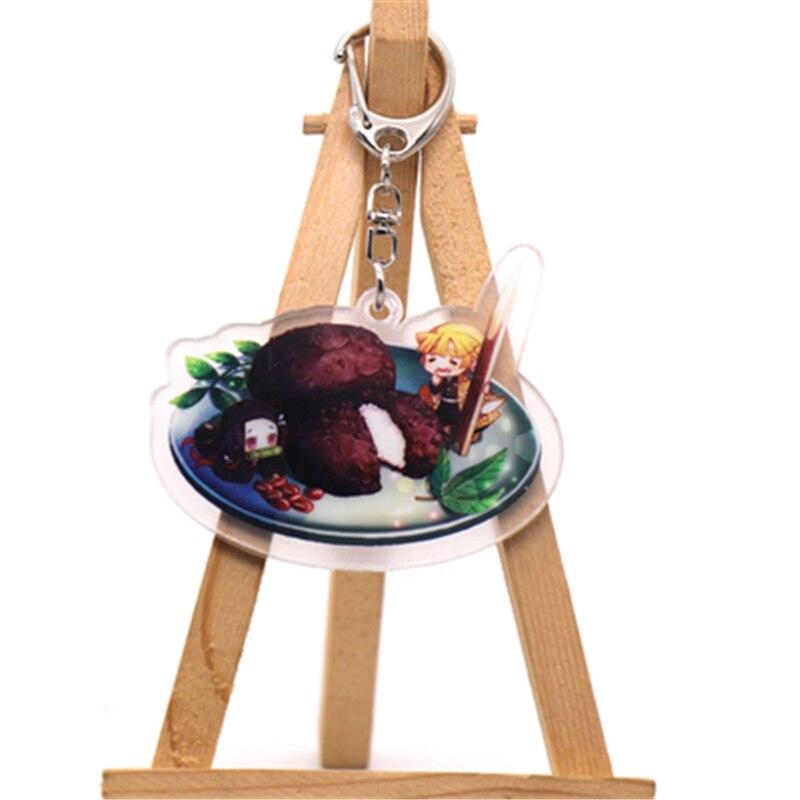 Аниме демон убийца Kimetsu no Yaiba Kamado Tanjirou косплей реквизит брелок Kamado Nezuko акрил прекрасная цепочка для ключа брелок - Цвет: style5