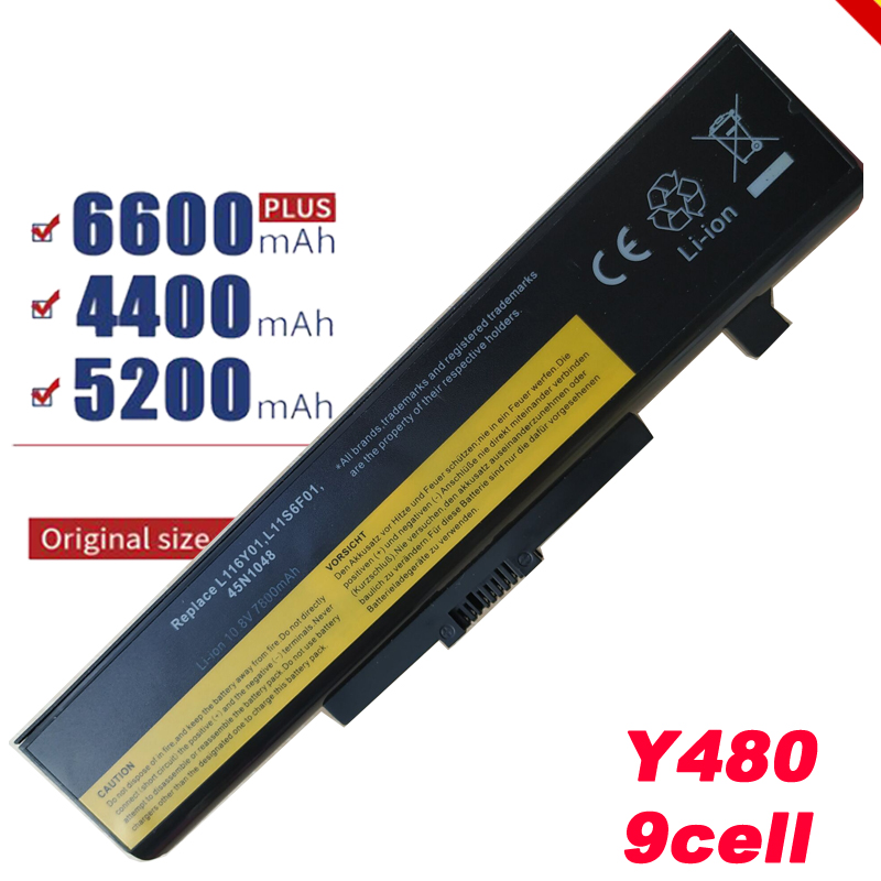 9cell laptop Battery For <font><b>Lenovo</b></font> <font><b>V580</b></font> V580C Y480 Y480P Y485 Y580 Y580A Z380 Z480 Z485 Z580 Z585 V480S V480u image