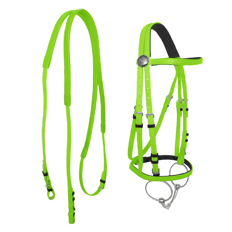 PVC Horse Reins For Large Horse Stainless Steel Hollow Mouth Bit Horse Riding Halter Racing Equestrian Equipment 4