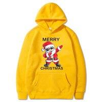 Women Christmas Hoodies Santa Claus Printed Fashion Warm Fleece Coat Autumn Winter Sweatshirt Fleece Street Hoodys for women