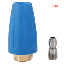 Rotating Turbo Nozzle 1/4 Inch Quick Connect High Pressure Washer Cleaner Accessory Turbo Nozzle 3000PSI Car Washing
