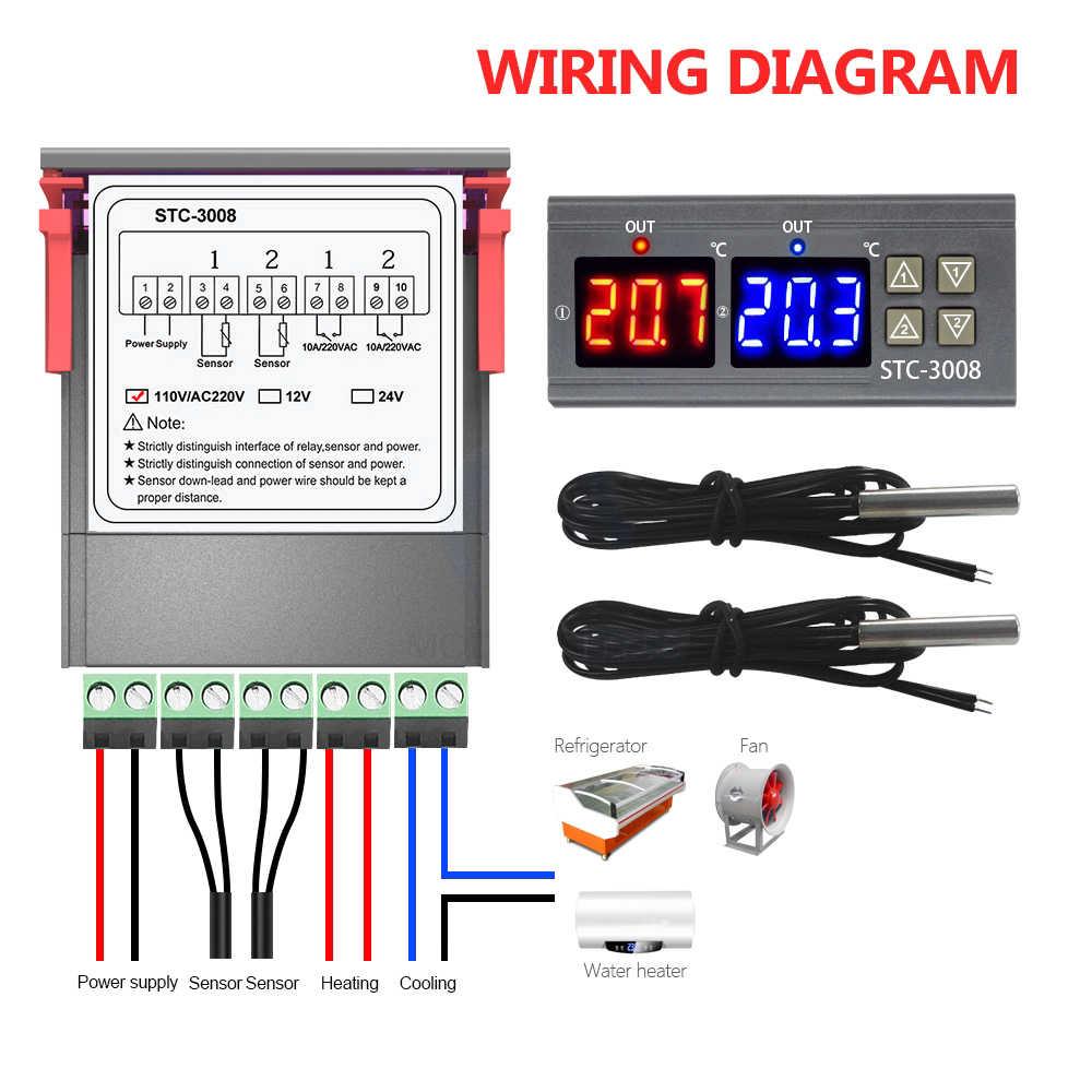 Digital Thermostat Temperature Sensor Controller Regulator Module w// Probe
