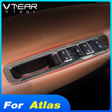 Vtear For Geely Atlas Emgrand NL-3 Proton X70 window switch cover glass lifting trim frame interior control panel styling 2019
