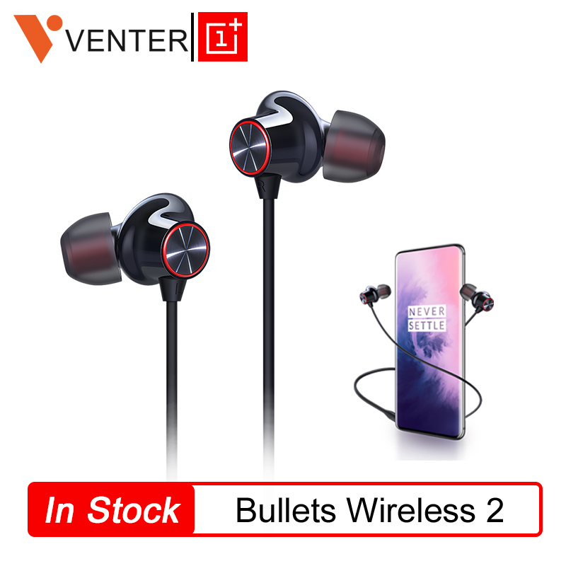 OnePlus Bullets Wireless 2 Earphone In Ear AptX Hybrid Magnetic Control Google Assistant Fast Charge For