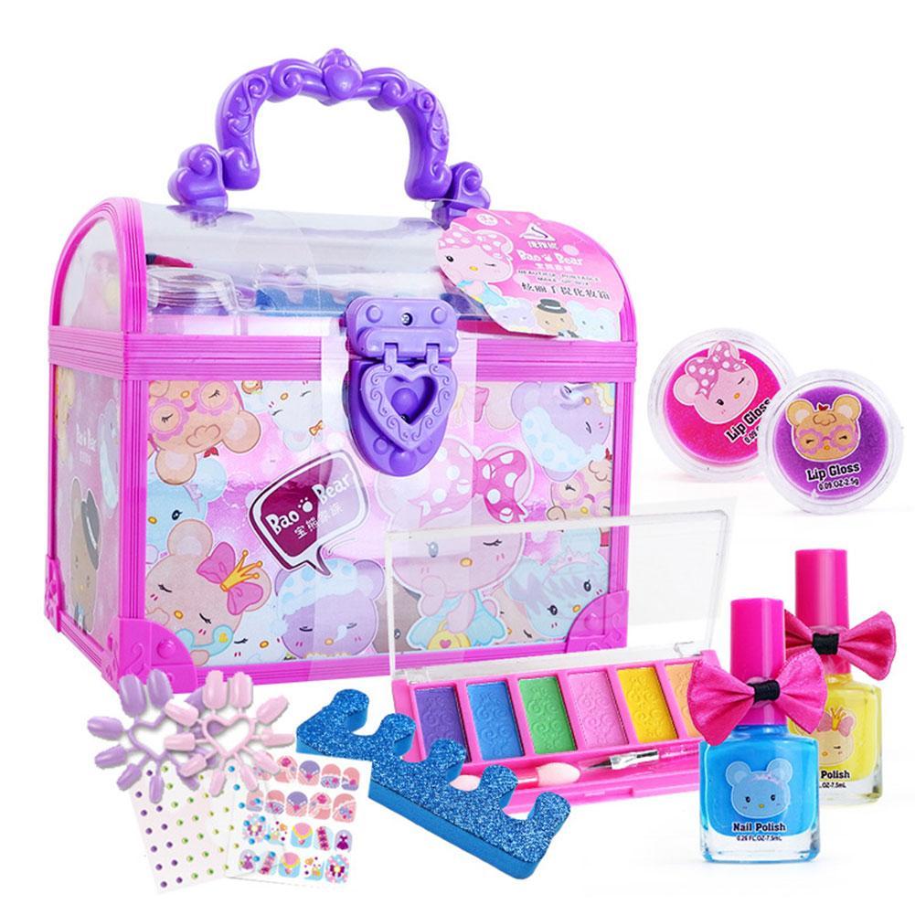 Maquillaje juguetes soluble en agua de los niños pegatinas de uñas cosméticos juguetes casa Set de maquillaje para niños no tóxico, no irritante Hismith máquina de sexo adaptador sexo juguetes para adultos 4,5