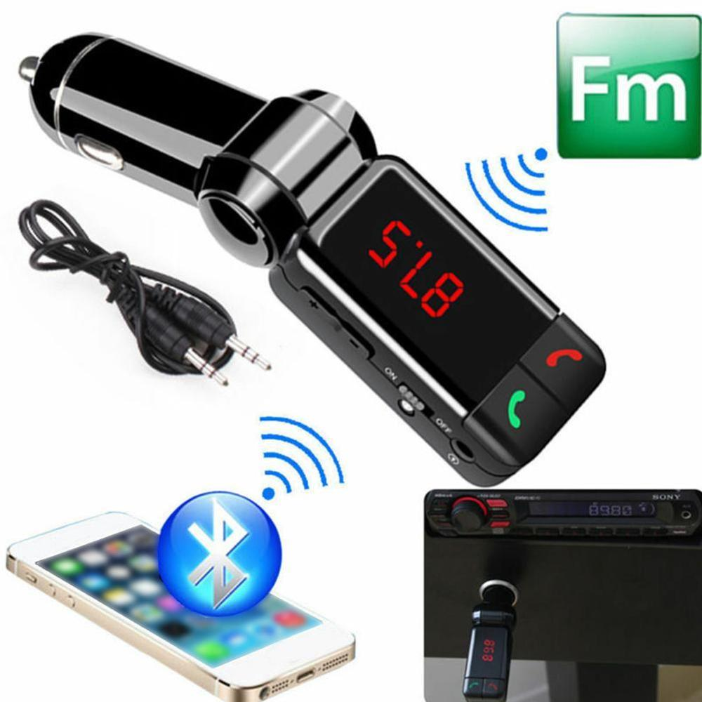 FM Transmitters Bluetooth Car Kit FM Transmitter Handsfree Mp3 Player Modulator with LED Display Portable Dual USB Charger