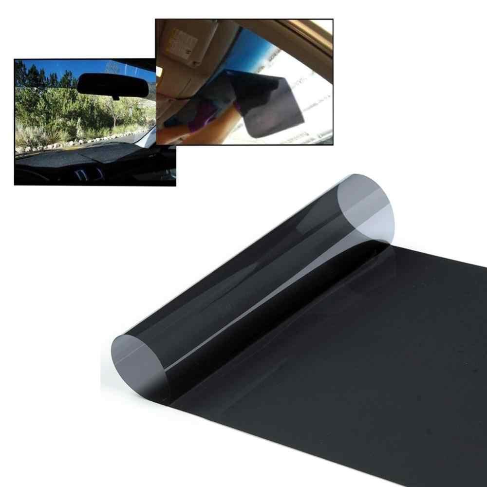 150x20 سنتيمتر VLT الأسود السيارات السيارات المنزل زجاج النافذة بناء التلوين فيلم لفة نافذة جانبية الشمسية UV حماية ملصق الستار الأفلام