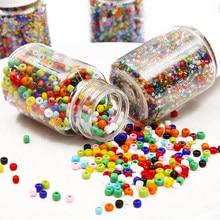 3000 шт./бутылка, маленькие стеклянные бусины 2 мм, Очаровательные Круглые бусины чешского разного цвета, «сделай сам», браслет, ожерелье, аксе...