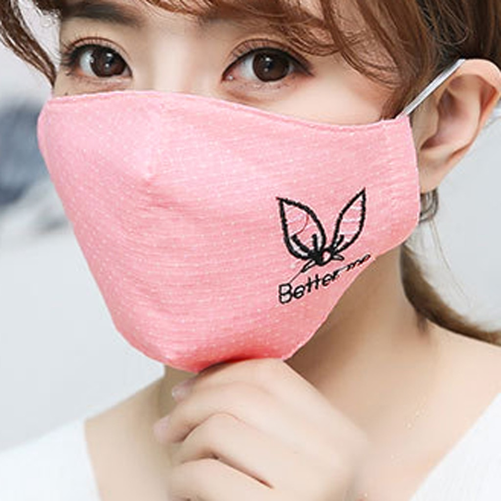 H7d89078f92c149d4a24d15108de4cf166 Kawaii Maska Women Cotton Print Facemask Outdoor Riding Quick-drying Dustproof Keep Warm Mask