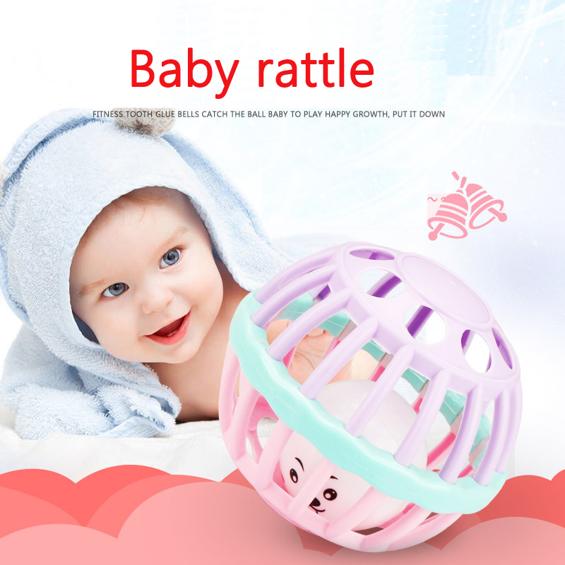 Infants Baby Rattles Toys Children Early Childhood Education Hand Grasping Ball Rattle Newborn Baby 0-1 Years Old Can Bite