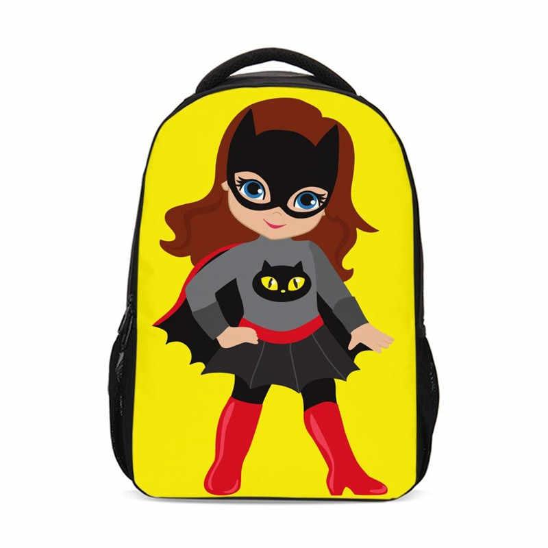 Рюкзаки для девочек Ангел фантазийный мультфильм крутая маска девушка 3D печать книжная сумка рюкзак для путешествий подростковые школьные сумки Mochila Escolar
