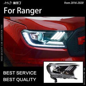 Image 5 - AKD רכב סטיילינג לפורד האוורסט ריינג ר פנסי 2016 2020 תור דינמי אות LED פנס DRL Hid Bi קסנון אביזרי רכב