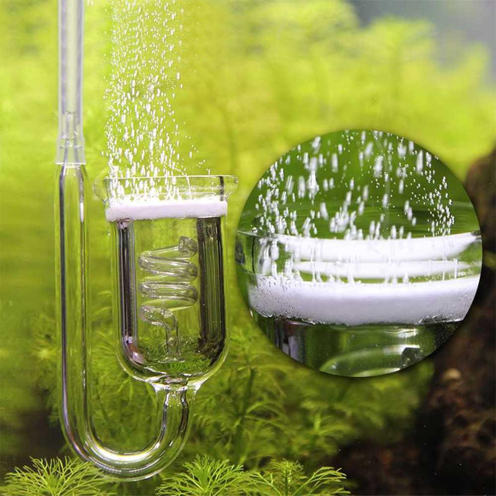 1 PC Aquarium CO2 แก้วถังฟอง Atomizer Reactor Solenoid Regulator MOSS CO2 Atomizer 60 ~ 300L พืช