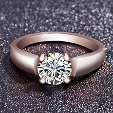Wedding Silver Ring Love Crystal Party Female Wholesale Gift Fashion Jewelry Child Girl
