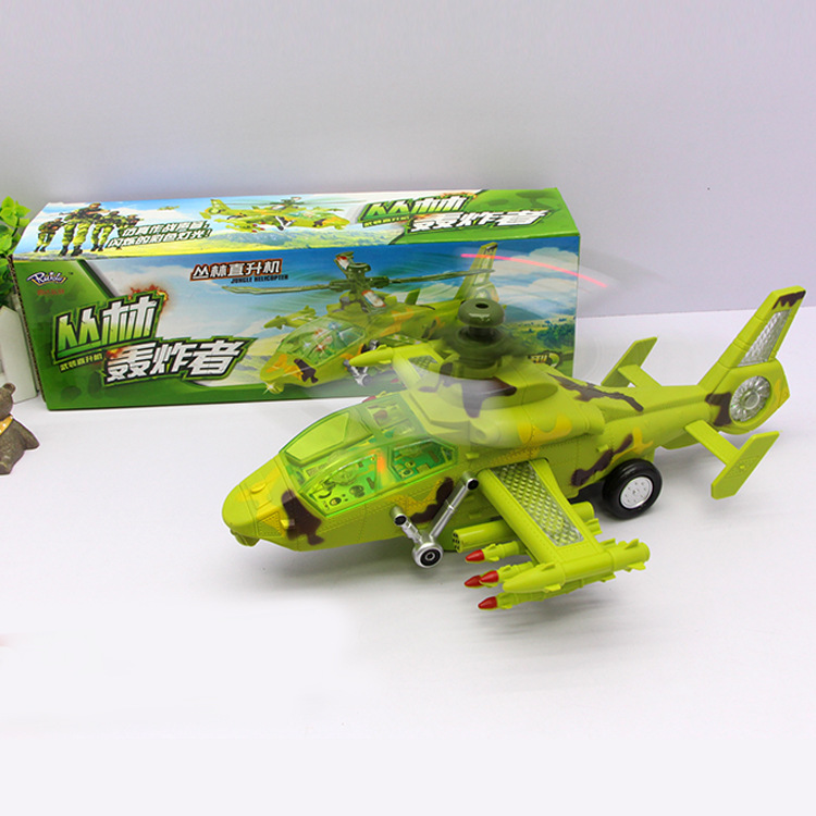 Hot Sales 777-42 Electric Universal Flash Music Fighter Plane Hunting Air The Children'S Educational Toy