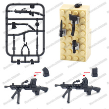Legoinglys Military ww2 Weapons Building Blocks Czech  ZB-26 Machine Gun Model Army Figures Soldier Moc Child Christmas Gift Toy 1110pcs future knight fort series building blocks diy toy compatible legoinglys with weapons action satellite toy for child gift