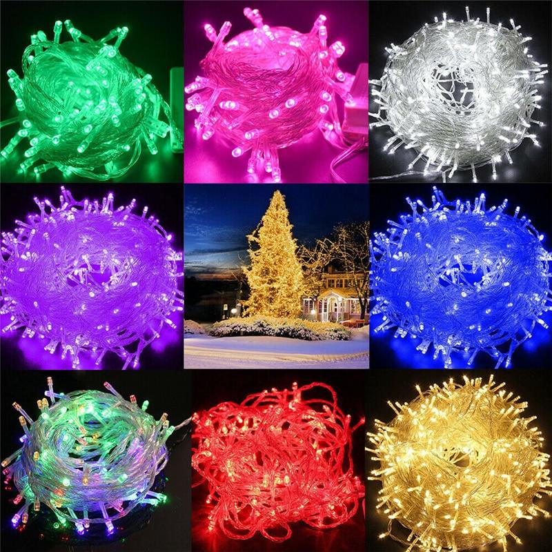 10M 20M 30M 50M 100M LED String Fairy Lights Holiday Wedding Christmas Decoration Waterproof Led Garland AC 220V EU Plug