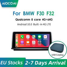 USB Carplay Android10.0 Car Multimedia Player GPS Navigation for BMW Series 3 4 F30 F31 F34 F32 F33 F36 Qualcomm 8 Core
