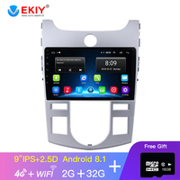 EKIY 9' IPS Car Radio For Kia Cerato 2 TD 2008 2013 Multimedia Video Player Navigation GPS Android 8.1 No 2din 2 Din Dvd