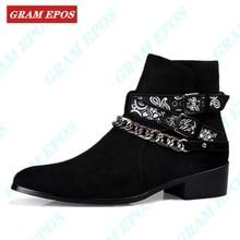 GRAM EPOS/Роскошная брендовая кожаная обувь; сезон осень-зима; мужские ботинки; модные свадебные ботинки «Челси» с острым носком; Винтажные ботинки в байкерском стиле