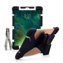 Универсальный силиконовый чехол для 9,7 10 10,1 10,5 10,8 дюймов планшетный ПК чехол для iPad воздуха SM T590 T835 huawei M5 BDF 10 с перфоратор