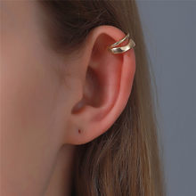 LETAPI Fashion Punk Rock Geometric Ear Cuff for Women Vintage Unisex Cuff Clip Earrings Without Piercing Statement Jewelry