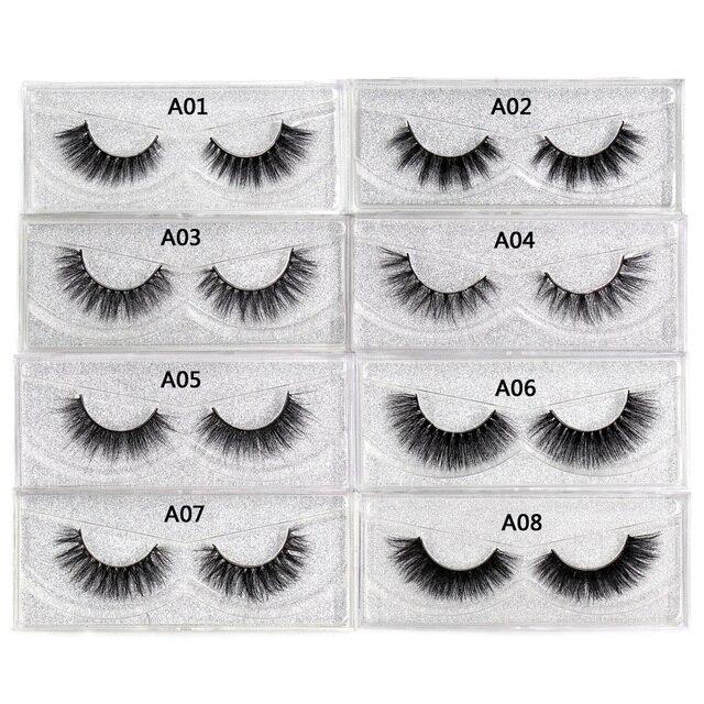 LEHUAMAO Mink Eyelashes 3D Mink Lashes Thick HandMade Full Strip False Eyelashes cruelty free Mink Lashes 34 Style Makeup Lashes 2