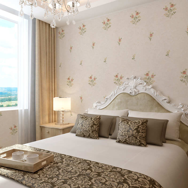 Pastoral Style Hipster Wall-to-Wall Embroidered Wall Covering Fabric High-End Home Improvement Main Material Bedroom American-St