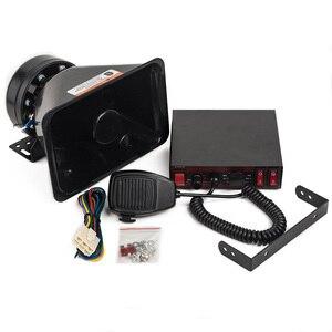 YHAAVALE-amplificateur CJB200E sirène de Police   Avec haut-parleur de Police en plastique noir, émetteur de haut-parleurs DC12V 200W à fil 8 tons pour Microphone portable