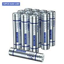 Melasta 12 pces lsd aaa 1.2 v ni-mh bateria recarregável real 850 mah baixa auto descarga para brinquedos relógio lanterna sem fio mouse