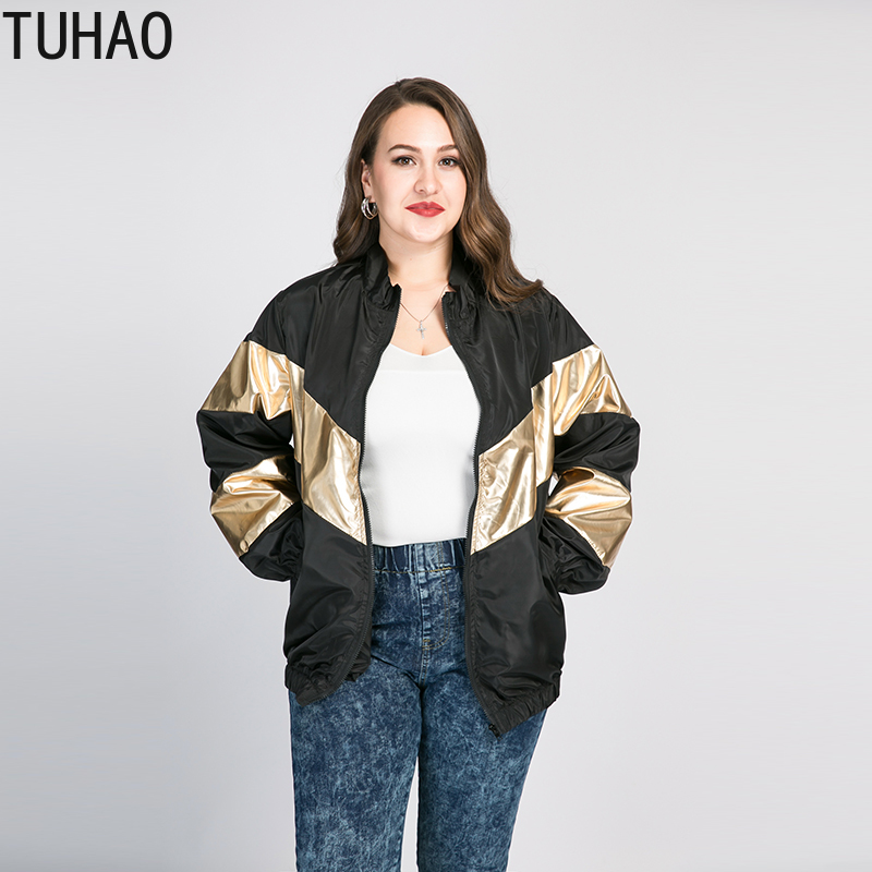 TUHAO 2020 Spring Windbreaker Jacket Women Plus Size 8XL <font><b>7XL</b></font> 6XL <font><b>Coats</b></font> Bomber Women's Jacket Female Jackets Outwear WM22 image