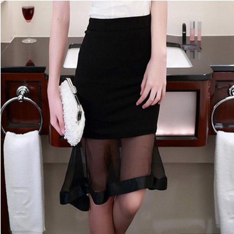Skirt 2018 Summer New Style Korean-style Fashion WOMEN'S Dress Slim Fit Organza Fishtail Skirt