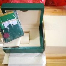 Суперкачественная зеленая коробка для часов с бумажными карточками