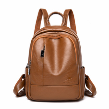 2019 Women Backpacks Leather Female Travel Bagpack Ladies Sac A Dos School Bags For Girls Preppy Style Large Capacity Back Pack