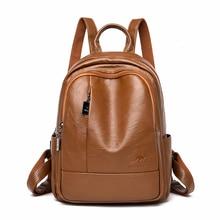 2019 женские рюкзаки, кожаный женский дорожный рюкзак, женская сумка, школьные ранцы для девочек, вместительный рюкзак в стиле преппи