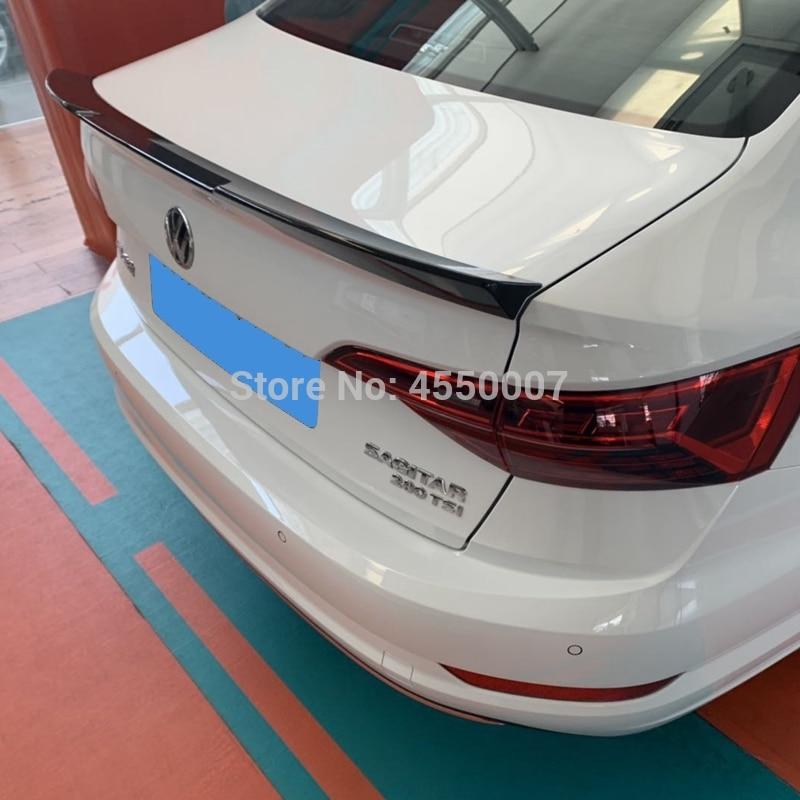 For VW Jetta Spoiler High Quality ABS Material Car Rear Wing Primer Color Rear Spoiler for Volkswagen Jetta Spoiler 2019(China)