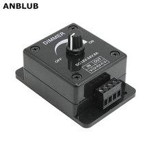 ANBLUB 2pcs LED Dimmer Switch 8A DC 12V 24V Adjustable Brightness PWM Dimming Controller for LED Strip Lights Ribbon