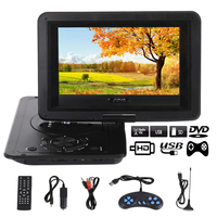 13.9inch HD TV Movies Portable Dvd Player Screen LCD Mobile Swivel Usb Screen Rotation for Car Multi Media Video Game Play