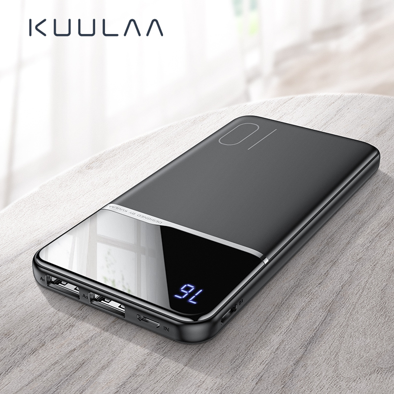 KUULAA Power Bank 10000mah Portable Charging Poverbank External Battery Charger For UMIDIGI A5 Pro Xiaomi Redmi Note 7 Powerbank